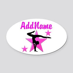 SUPREME GYMNAST Oval Car Magnet