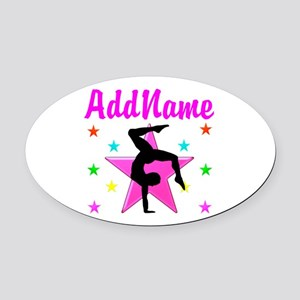 GYMNAST GIRL Oval Car Magnet