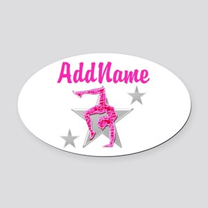 GORGEOUS GYMNAST Oval Car Magnet