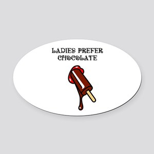 Chocolate_1_tshirt Oval Car Magnet