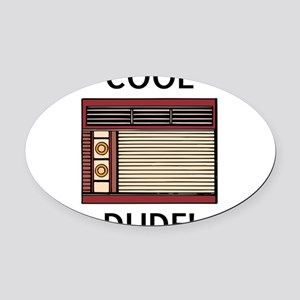 cool dude Oval Car Magnet