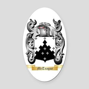McTeague Oval Car Magnet