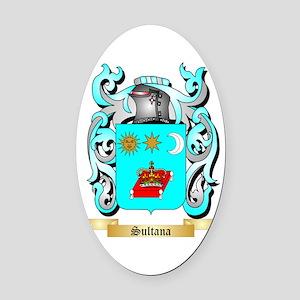 Sultana Oval Car Magnet