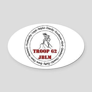 troop 62 Oval Car Magnet