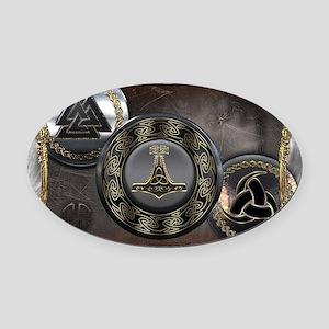 Vikings Shields Oval Car Magnet