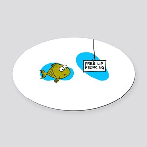Lip Piercing Oval Car Magnet