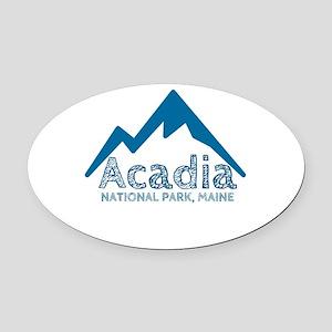 Acadia Oval Car Magnet