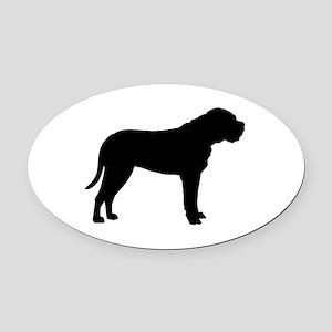 bullmastiff black Oval Car Magnet