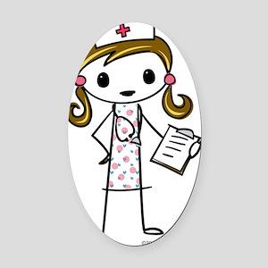 nurse Oval Car Magnet