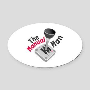 Manual Man Oval Car Magnet