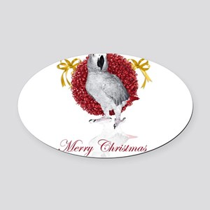 african grey parrot holiday Oval Car Magnet