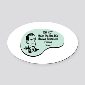 Human Resources Person Voice Oval Car Magnet