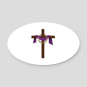 Season Of Lent Cross Oval Car Magnet