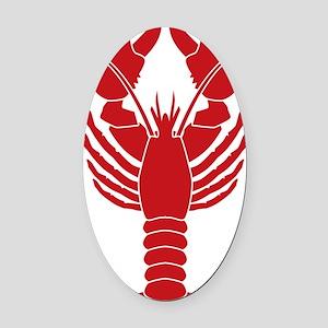 Lobster Oval Car Magnet