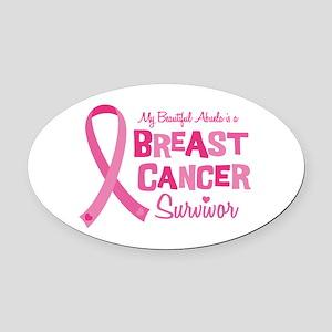 Breast Cancer Abuela Oval Car Magnet