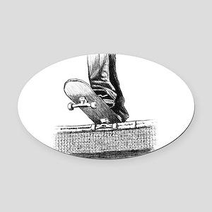 Drop in design Oval Car Magnet