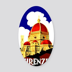 Vintage Florence Italy Travel Oval Car Magnet