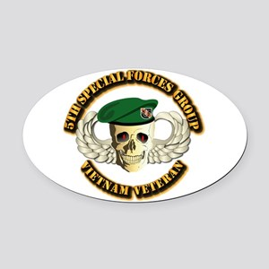 5th SFG - WIngs - Skill Oval Car Magnet
