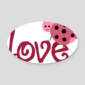 lovebug Oval Car Magnet