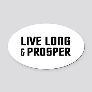 Live Long Oval Car Magnet