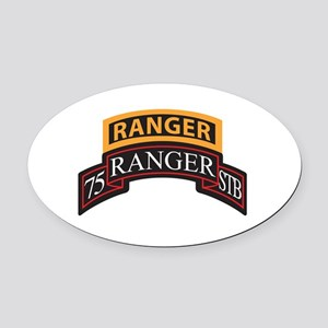 75 Ranger STB scroll with Ran Oval Car Magnet
