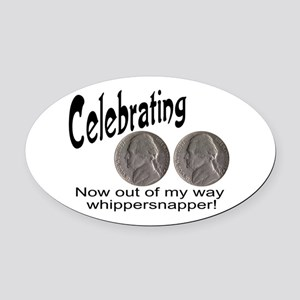 55 Birthday Whippersnapper Oval Car Magnet