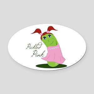 Pickled Pink Oval Car Magnet