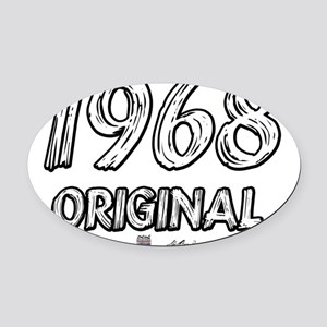 1968txt Oval Car Magnet