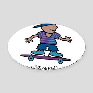 32196147skateboardkid Oval Car Magnet
