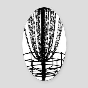 black basket NO TEXT Oval Car Magnet