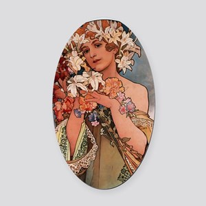 FLOWER_1897 Oval Car Magnet