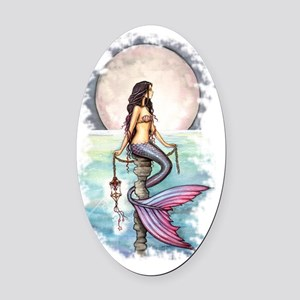 enchanted sea transparent Oval Car Magnet