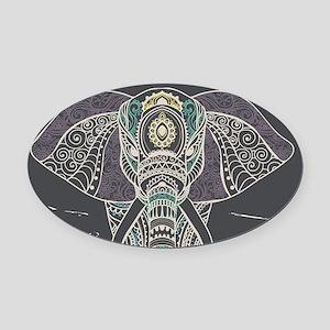 Indian Elephant Oval Car Magnet