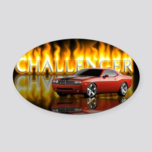 dodge chall Oval Car Magnet