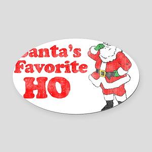 Santas Fav1 Oval Car Magnet