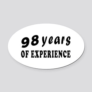 98 years birthday designs Oval Car Magnet