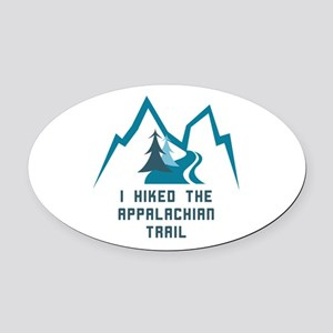 Hike the Appalachian Trail Oval Car Magnet