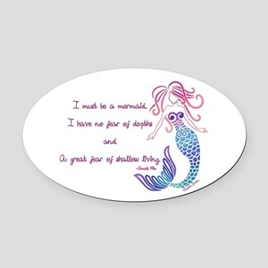 Tribal Mermaid Musings Oval Car Magnet