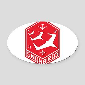 snow_bird_aerobatic Oval Car Magnet