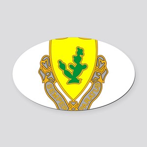 12th Cavalry Oval Car Magnet