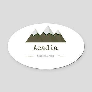 Acadia National Park Oval Car Magnet