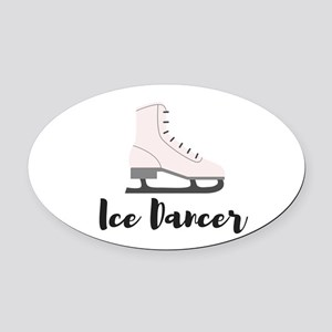 Ice Dancer Oval Car Magnet