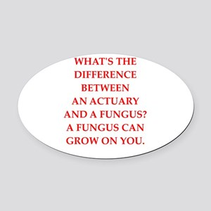 actuary Oval Car Magnet
