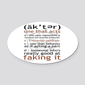 3-t-shirt-black-sally6 Oval Car Magnet