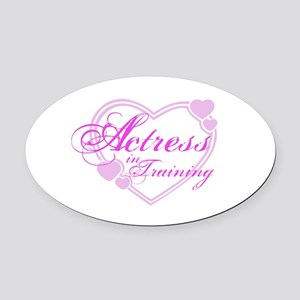 kids-tshirt-actress1 Oval Car Magnet
