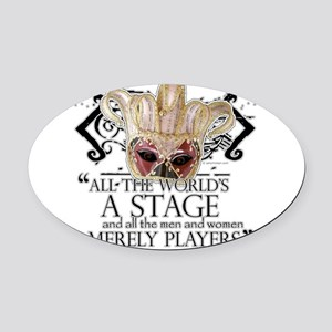 as you like it 2 Oval Car Magnet