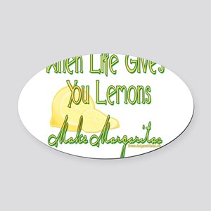 MAKEMARGARITASupdated copy Oval Car Magnet