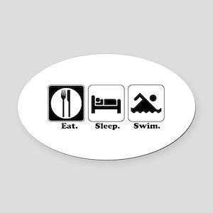 swim Oval Car Magnet