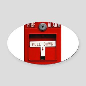 FIRE ALARM Oval Car Magnet