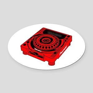 CDJ-1000 Swirl Oval Car Magnet